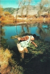 Vintage fly fishing man 1